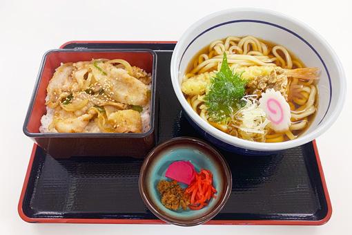 天ぷらうどん焼肉重